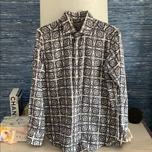 Etro made in Italy men's printed button down